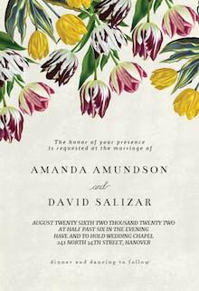 Tulips - Wedding Invitation