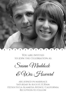 Two to One - Wedding Invitation