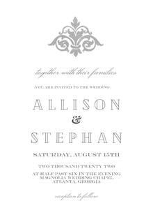 Vintage Embellishments - Wedding Invitation