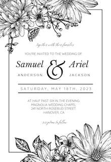 Vintage Flowers - Wedding Invitation