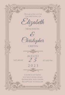 Vintage Frame - Wedding Invitation