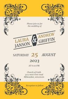 Vintage Rustic - Wedding Invitation