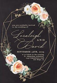 Watercolor Crystal Frame - Wedding Invitation