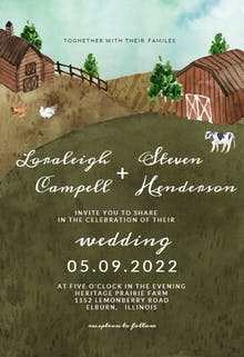 Watercolor farm - Wedding Invitation