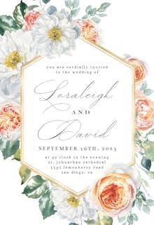 Watercolor Floral Geometric - Invitación De Boda