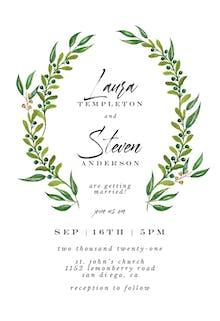 Watercolor Greenery - Wedding Invitation