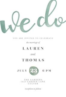 We do glitter - Wedding Invitation