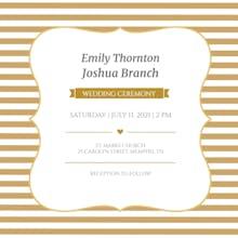 Wedding Bands - Wedding Invitation