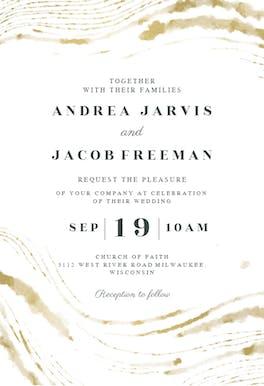 Wedding waves - Wedding Invitation