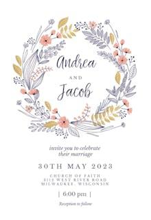 Wedding Wreath - Wedding Invitation