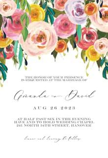 Whimsical bouquet - Wedding Invitation