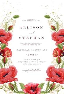 Whimsical poppies - Wedding Invitation