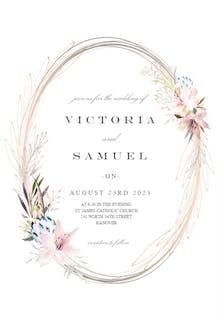 Whimsical Wreath - Wedding Invitation