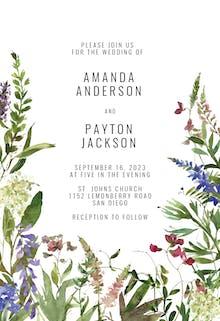 Wild Flowers - Wedding Invitation