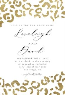 Wild leopard - Wedding Invitation