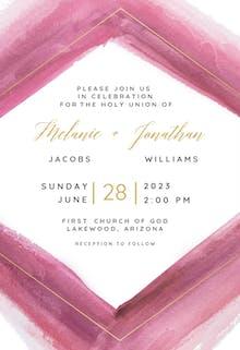 Wild Rhombus - Wedding Invitation