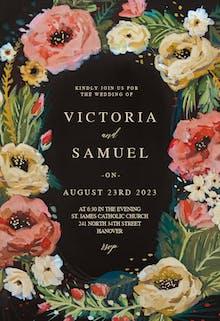 Wild Roses - Wedding Invitation