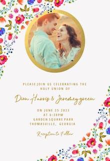 Wind of Flowers - Wedding Invitation