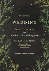 Winter greenery - Wedding Invitation