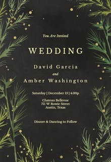 Winter greenery - Wedding Invitation