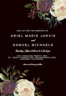 Winter Rose Wedding Invitation