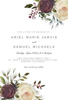 Winter Rose - Wedding Invitation