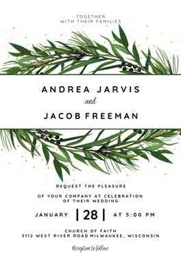 Winter Wreath - Wedding Invitation Template (free ...