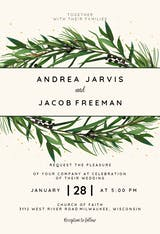 Winter Wreath - Wedding Invitation