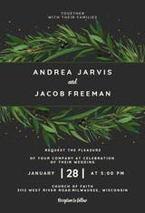 Winter Wreath - Wedding Invitation