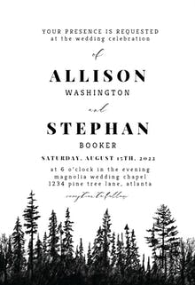 Woods - Wedding Invitation