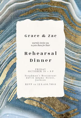 Agate rock - Rehearsal Dinner Party Invitation