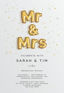 Balloons Prelude - Rehearsal Dinner Party Invitation