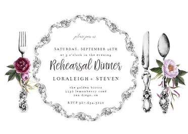 Dinner ware - Party Invitation