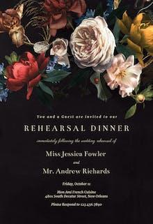 Dutch bouquet - Rehearsal Dinner Party Invitation