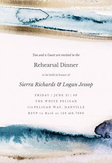 Modern Fluid - Rehearsal Dinner Party Invitation