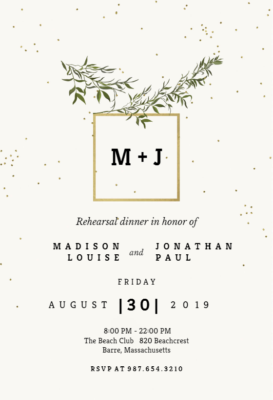 image regarding Free Printable Rehearsal Dinner Invitations referred to as Rehearsal Meal Invitation Templates (Absolutely free) Greetings Island