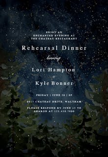 Rustic forest - Rehearsal Dinner Party Invitation