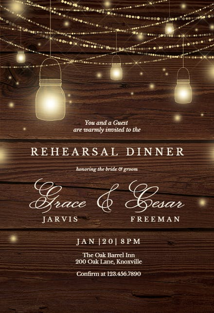 Rehearsal Dinner Invitation Templates