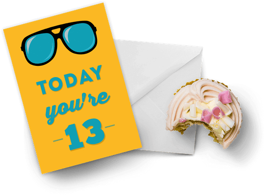 13th birthday cards