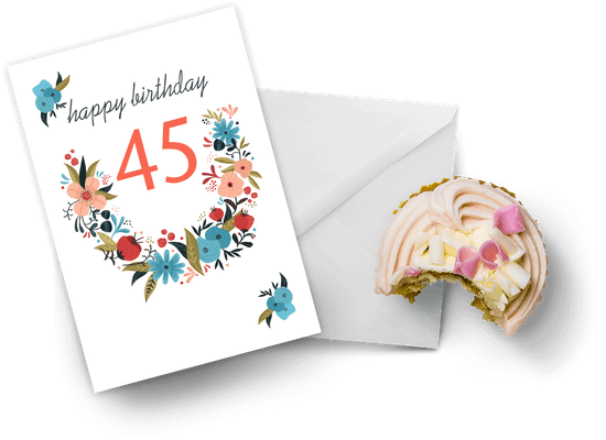 45th birthday cards