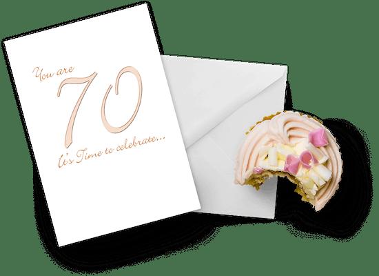 Tarjetas para los 70 años