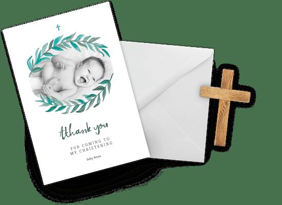 Tarjetas de agradecimiento por el bautizo