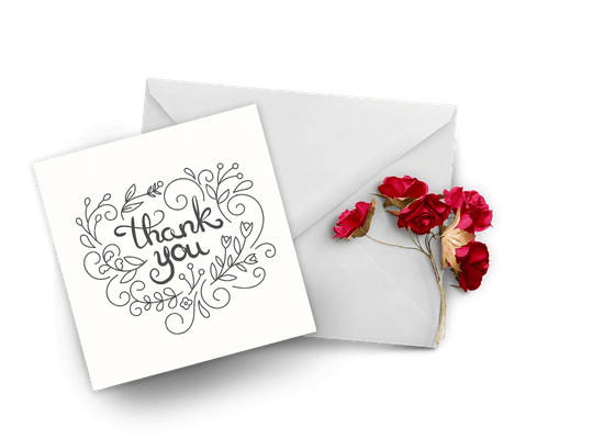 Thank You For Support Cards
