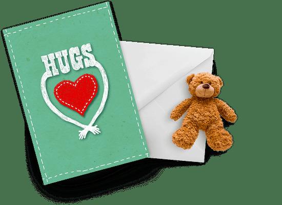 Tarjetas de abrazos