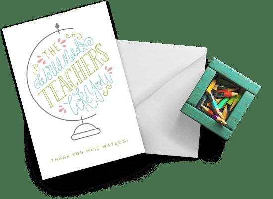 Tarjetas  de aprecio a un profesor
