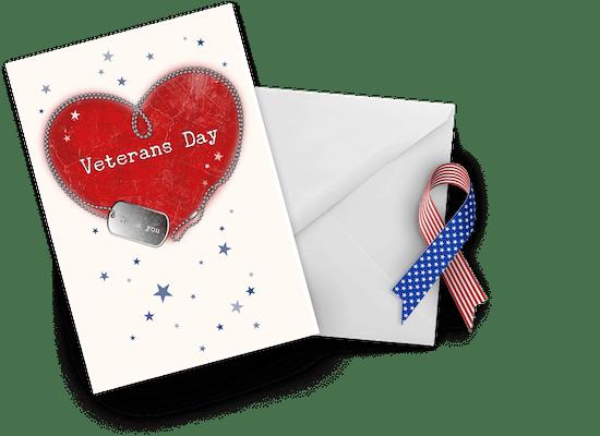 Tarjetas para el Día del Veterano