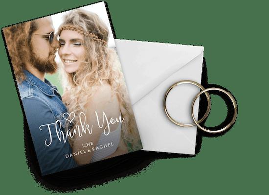 Tarjetas de agradecimiento por la boda