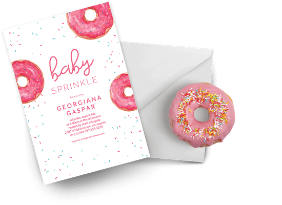 Baby sprinkle invitations