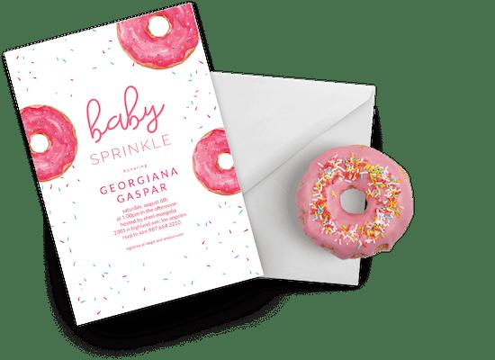 Invitaciones para Bebé espolvorear