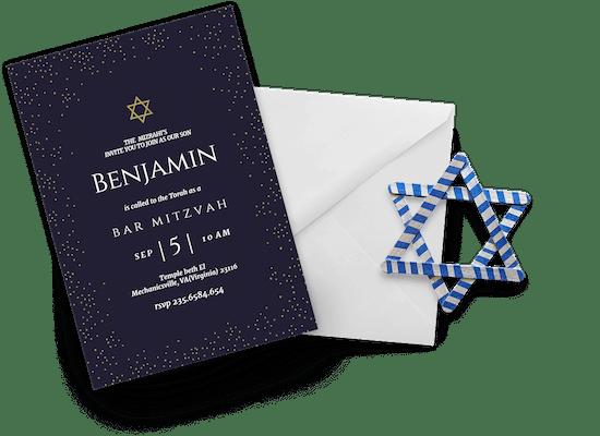 Invitaciones de Bar Mitzvah & Bat Mitzvah